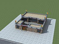 藏式民居3d模型
