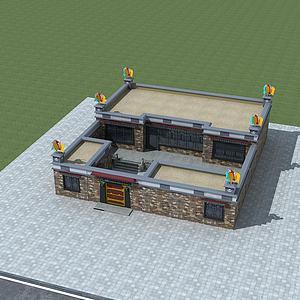 藏式民居模型