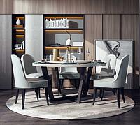 轻奢餐桌单人椅酒柜3d模型
