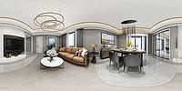 新现代客厅餐厅3d模型