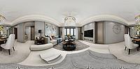 现代客厅餐厅空间3d模型