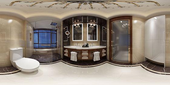 3d现代卫浴空间全景模型