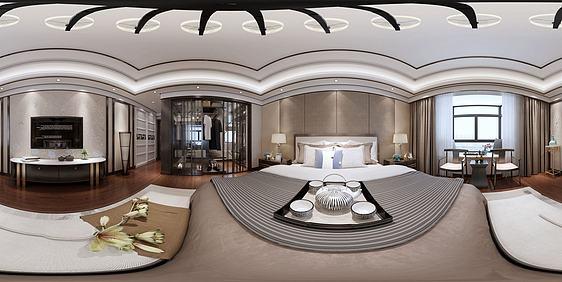 3d现代风格卧室模型