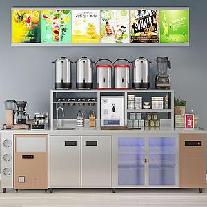 饮料机现代厨房用品模型