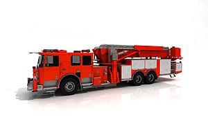 3d<font class='myIsRed'>消防車</font>模型
