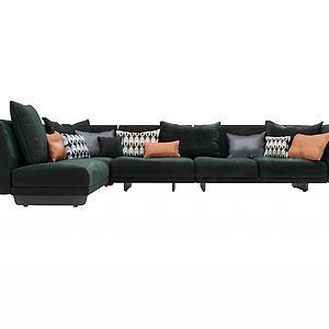 ?#23478;?#36716;角沙发模型
