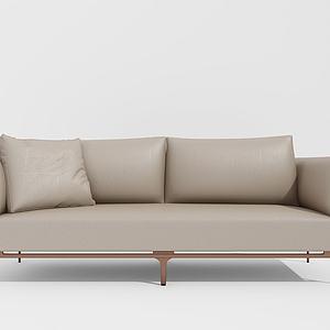 现代休闲双人沙发模型