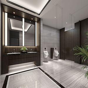 现代酒店卫生间模型