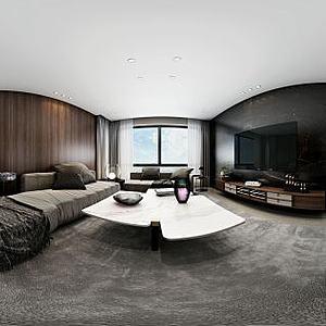 现代简约客餐厅空间模型