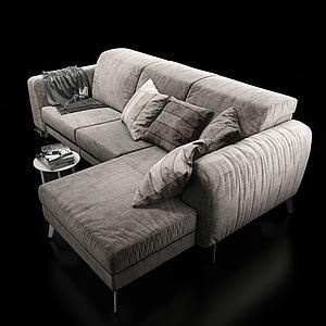 现代?#23478;?#22810;人沙发3d模型