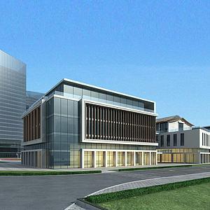 学校教学楼模型