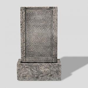 石碑景观碑模型