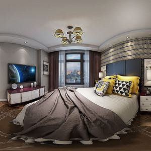 中式臥室3d模型