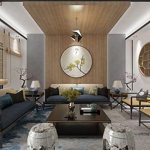 别墅客厅餐厅3d模型