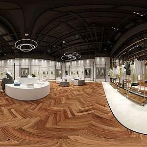 3d品牌服装专卖店模型