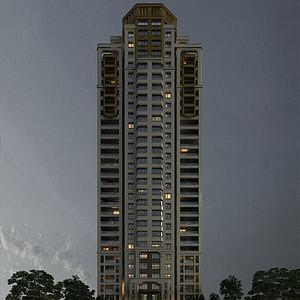 欧式高层住宅楼模型3d模型
