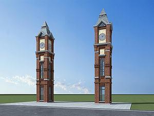 欧式钟楼3d模型