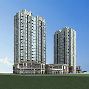 高层建筑楼房模型3d模型