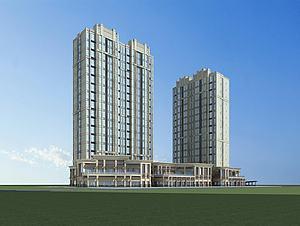 高层建筑楼房3d模型