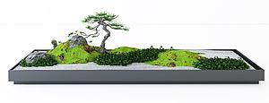 3d植物盆景<font class='myIsRed'>园林</font>小景模型