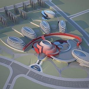 酒店会所规划模型