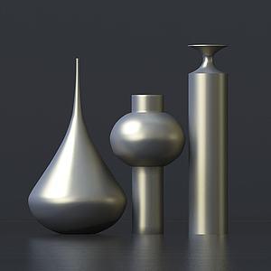 現代藝術感花瓶模型3d模型