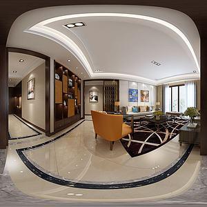 新古典風格客餐廳模型3d模型