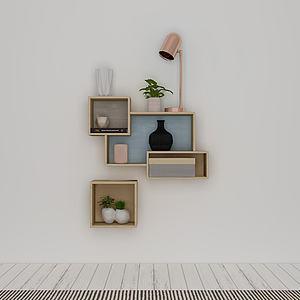 简约时尚壁柜模型3d模型
