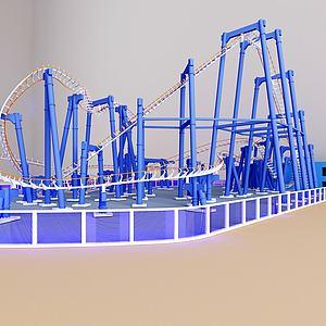 游乐园过山车模型