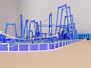游乐园过山车模型3d模型