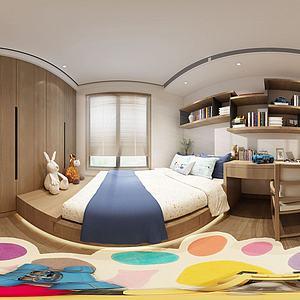 現代簡約兒童房3d模型