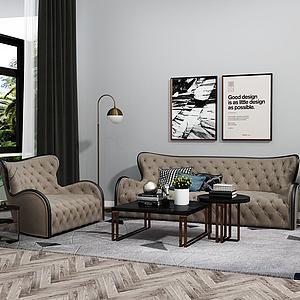 后现代组合沙发模型