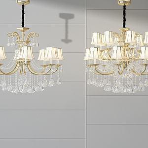3d時尚<font class='myIsRed'>水晶吊燈</font>模型