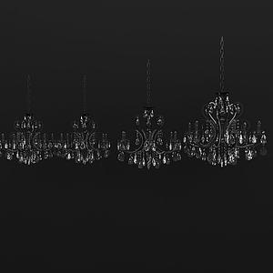 3d歐式<font class='myIsRed'>水晶吊燈</font>模型