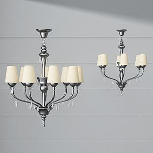 3d金屬<font class='myIsRed'>水晶吊燈</font>模型