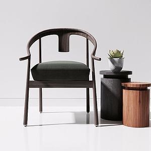 新中式木椅模型