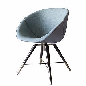 创意靠背椅模型