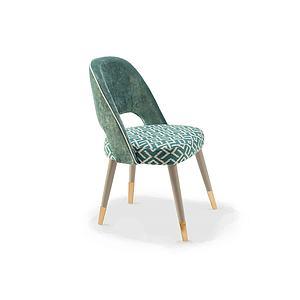 单椅靠背椅模型