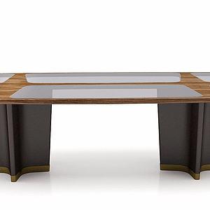 创意玻璃长桌模型