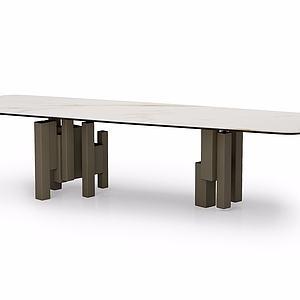 简约时尚长桌模型
