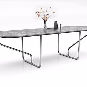 创意金属边桌模型
