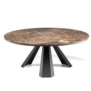 石面圆桌模型