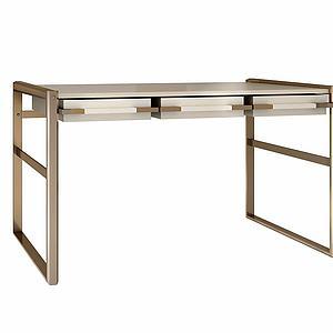 创意实木书桌模型