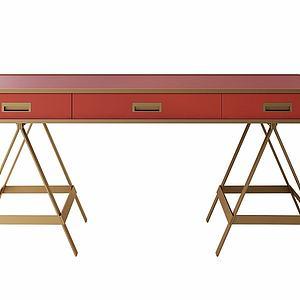 实木创意书桌模型
