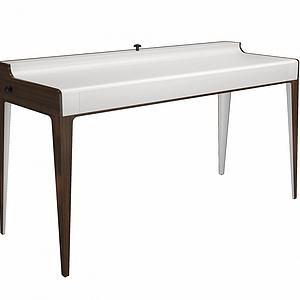 实木书桌模型