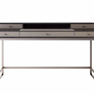 现代实木书桌模型