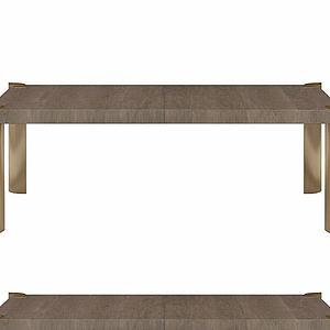 实木边桌模型