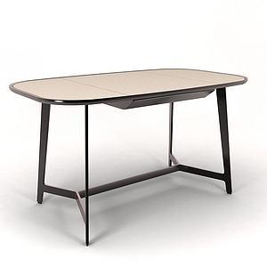 书桌长桌模型