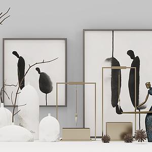 饰品摆件壁画组合模型
