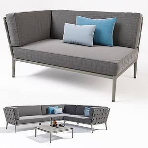 休闲沙发茶几模型